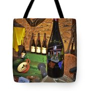 Wine Bottle On Display Tote Bag
