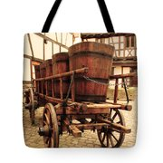 Wine Cart In Alsace France Tote Bag by Greg Matchick