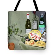 Wine Cheese And Crackers Tote Bag