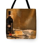Wine Cherries And Cheese Tote Bag