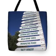 Wine Country Signs Tote Bag
