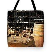 Wine Glasses And Barrels Tote Bag