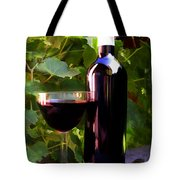 Wine In The Sunset Tote Bag