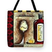 Wine Tasting Original Madart Painting Tote Bag
