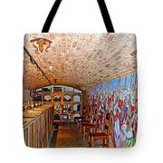 Wine Tasting Room In Castello Di Amorosa In Napa Valley-ca Tote Bag
