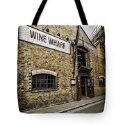Wine Wharf Tote Bag by Heather Applegate