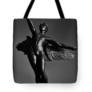 Winged Life Black And White Tote Bag