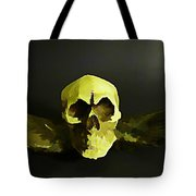 Winged Skull Two Tote Bag