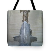 Winged Victory Of Samothrace Tote Bag by Karen Maxwell