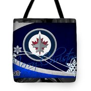 Winnipeg Jets Christmas Tote Bag