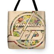 Winnipeg Jets Hockey Art Tote Bag by Florian Rodarte