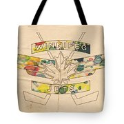 Winnipeg Jets Vintage Logo Tote Bag by Florian Rodarte