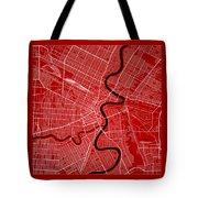 Winnipeg Street Map - Winnipeg Canada Road Map Art On Color Tote Bag