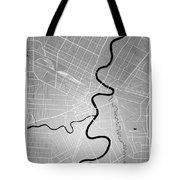 Winnipeg Street Map - Winnipeg Canada Road Map Art On Colored Ba Tote Bag