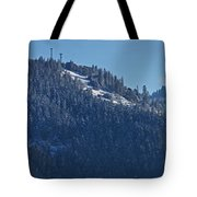 Winter And Mt Baldy Panorama Tote Bag