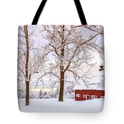 Winter Arrives Tote Bag