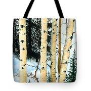 Winter Aspens Tote Bag