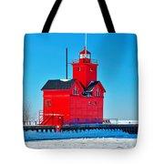 Winter At Big Red Tote Bag