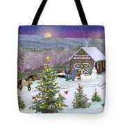 Winter At Campton Farm Tote Bag