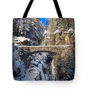 Winter At Christine Falls Tote Bag