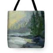 Winter At Gold Creek Tote Bag