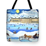 Winter At Lake Louise Chateau Tote Bag