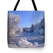 Winter At Lake Marmo Tote Bag