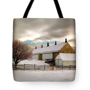 Winter At Piper Barn Anteitam National Battleground Tote Bag
