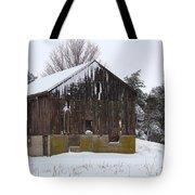 Winter At The Barn Tote Bag