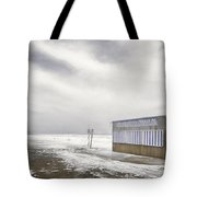 Winter At The Cabana Tote Bag