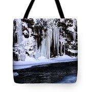 Winter At The Creek Tote Bag