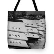 Winter At The Marina Tote Bag by Paul Ward
