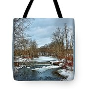 Winter At The Mattabeset River Tote Bag