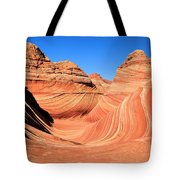 Winter At The Wave Tote Bag