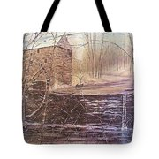 Winter At Wolf Pen Mill Tote Bag
