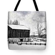 Winter Barn Impasto Version Tote Bag