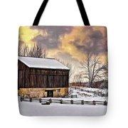Winter Barn - Paint Tote Bag