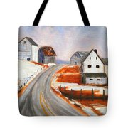 Winter Barns Tote Bag