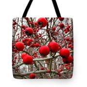 Winter Berryscape Tote Bag