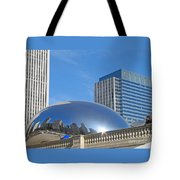 Winter Blue Reflected Tote Bag