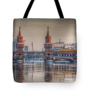 Winter Bridge Tote Bag by Nathan Wright