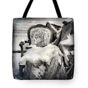 Winter Brocade Tote Bag