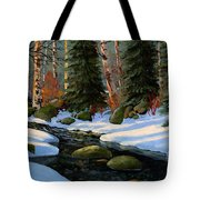 Winter Brook Tote Bag