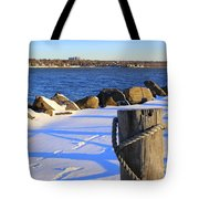 Winter By The Bay Tote Bag