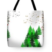 Winter Four Seasons Tote Bag