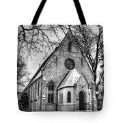 Winter Church Tote Bag