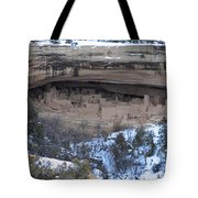 Winter Cliff Palace Tote Bag