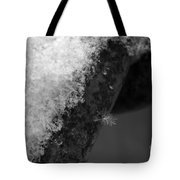 Winter Coat Black And White Tote Bag