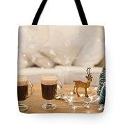 Winter Coffee Tote Bag