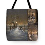 Winter Collage Tote Bag